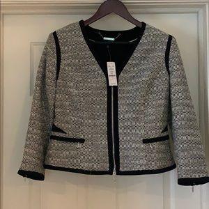 Contrast Tweed Jacket